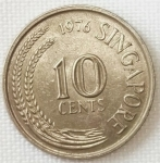 monedas del Mundo : Asia : Singapur :  1976 (Reverso)