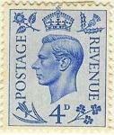 Sellos de Europa - Reino Unido -  Jorge VI