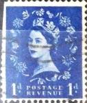 Stamps United Kingdom -  Intercambio 0,20 usd 1 p. 1953