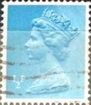 Sellos de Europa - Reino Unido -  Intercambio 0,20 usd 1/2 p. 1971