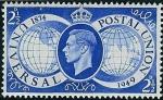 Stamps United Kingdom -  75º aniversario de la Unión Postal Universal