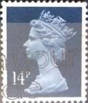 Stamps United Kingdom -  Intercambio 0,40 usd 14 p. 1988