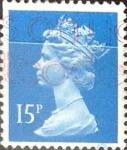 Sellos de Europa - Reino Unido -  Intercambio cxrf2 0,25 usd 15 p. 1989