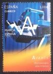 Sellos de Europa - España -  Avance, Microscopio electrónico
