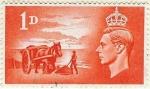 Stamps United Kingdom -  Liberación de las islas Anglo-Normandas