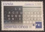 Sellos de Europa - España -  75 anivº de la Agencia EFE