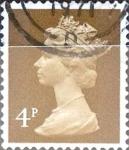 Stamps United Kingdom -  Intercambio 0,20 usd 4 p. 1971