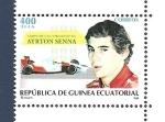 Stamps Equatorial Guinea -  Campeones Automovilisticos - Formula 1 - Ayrton Senna