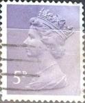 Sellos de Europa - Reino Unido -  Intercambio 0,20 usd 5 p. 1971