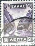 Stamps : Europe : Greece :  Intercambio 0,20 usd 50 lepta 1927