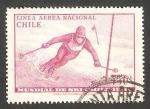 Stamps Chile -  232 - Campeonato mundial de esqui, en Portillo