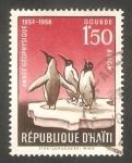 Stamps Haiti -  130 - Año geofísico internacional, pingüinos