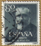 Stamps Spain -  Dia del sello - Marcelino Menendez y Pelayo