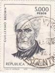 Stamps Argentina -  Guillermo Brown- primer almirante