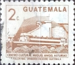 Stamps : America : Guatemala :  Intercambio 0,20 usd 2 cents. 1988