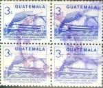 Sellos de America - Guatemala -  Intercambio 0,80 usd 4x3 cent. 1987