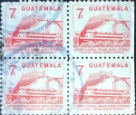 Stamps : America : Guatemala :  Intercambio 0,80 usd 4x7 cent. 1987