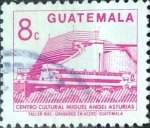Stamps : America : Guatemala :  Intercambio 0,20 usd 8 cent. 1987