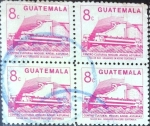 Stamps : America : Guatemala :  Intercambio 0,80 usd 4x8 cent. 1987