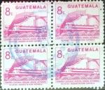 Sellos de America - Guatemala -  Intercambio 0,80 usd 4x8 cent. 1987