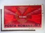 Sellos de Europa - Rumania -  Emblema del Partido Comunista - 50 Ani.