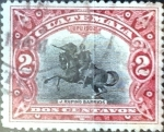 Stamps : America : Guatemala :  Intercambio 0,20 usd 2 cent. 1902