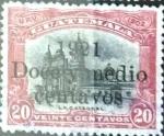 Stamps : America : Guatemala :  12,5 sobre 20 cent. 1921