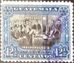 Stamps : America : Guatemala :  Intercambio 0,45 usd 12,5 cent. 1907