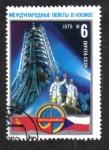 Stamps Russia -  A. A. Gubarev y V. Remek en plataforma de lanzamiento