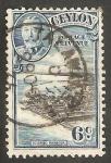 Sellos de Asia - Sri Lanka -   240 - George V y Puerto de Colombo