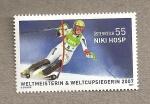 Stamps Austria -  Niki Hosp, campeona del mundo de ski