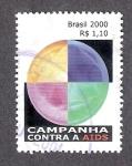 Sellos de America - Brasil -  Campaña contra el SIDA