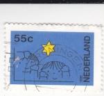 Sellos de Europa - Holanda -  ilustración de unos niños