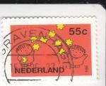 Stamps Netherlands -  ilustración de unos niños