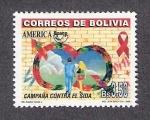 Stamps Bolivia -  Campaña contra el SIDA