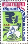 Stamps : America : Guatemala :  Intercambio 0,25 usd 1 cent. 1975