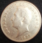 monedas de America - El Salvador -  1977 (Anverso)