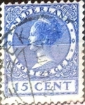 Stamps : Europe : Netherlands :  Intercambio 0,40 usd 15 cent. 1924