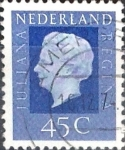 Sellos de Europa - Holanda -  Intercambio 0,20 usd 45 cent. 1972