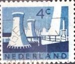 Sellos de Europa - Holanda -  Intercambio 0,20 usd 4 cent. 1963
