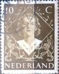 Sellos de Europa - Holanda -  Intercambio 0,20 usd 10 cent. 1948