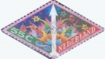 Stamps : Europe : Netherlands :  Intercambio 0,20 usd 55 cent. 1993