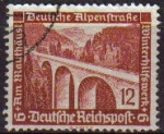 Stamps Germany -  DEUTSCHES REICH 1936 Scott B98 Sello Carretera Alpina Alemana Arquitectura Moderna Alemania Usado