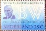 Sellos de Europa - Holanda -  Intercambio 0,20 usd 25 cent. 1970
