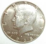 monedas de America - Estados Unidos -  1968 (Anverso)