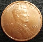monedas de America - Estados Unidos -  1969 (Anverso)