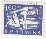 Stamps Romania -  deportista