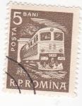 Sellos de Europa - Rumania -  tren elétrico