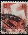 Stamps Germany -  DEUTSCHES REICH 1936 Scott480 Sello Nurnburg Party Day Saludo a la Svastica ALEMANIA Michel 633