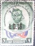 Stamps : America : Honduras :  Intercambio 0,20 usd 16 sobre 1 cent. 1975